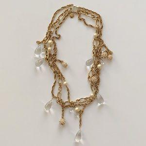 J. Crew Multi-Strand Gold-tone Necklace